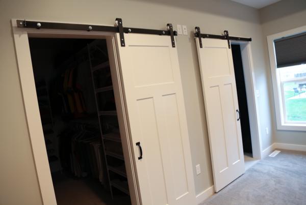 Solon New Construction | Custom Barn Door Closets