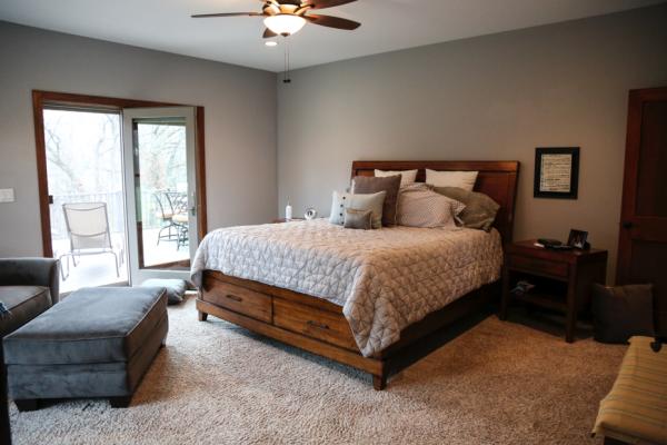 Rustic Home Iowa City General Contractor   Bedroom
