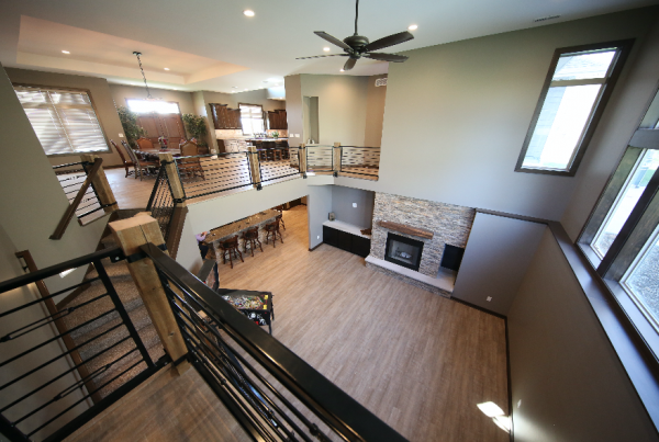 Open Atrium floor plan Stebral Construction Home Builder Iowa City, Coralville, Solon, North Liberty