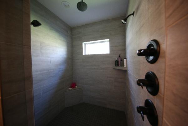 Master Bath Tile Shower design Stebral Construction Home Builder Iowa City, Coralville, Solon, North Liberty