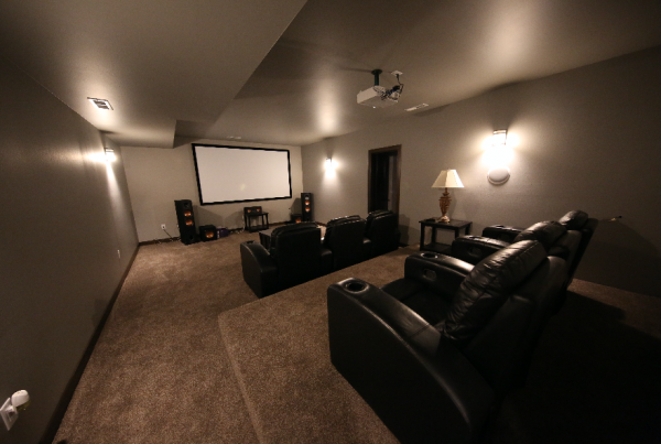 Theater Room Stebral Construction Home Builder Iowa City, Coralville, Solon, North Liberty