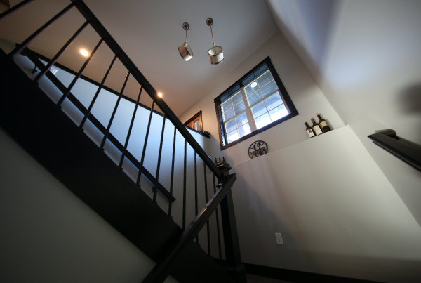 Scissor Stairwell Stebral Construction Home Builder Iowa City, Coralville, Solon, North Liberty