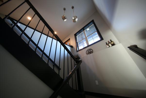 Scissor Stairwell Stebral Construction Home Builder Iowa City, Coralville, Solon, North Liberty