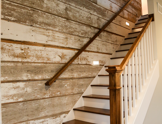 Barn wood stairs General contractor