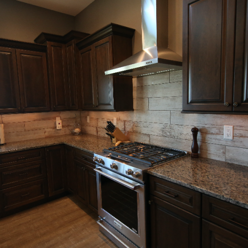Kitchen and Wood Tile Stebral Construction Home Builder Iowa City, Coralville, Solon, North Liberty
