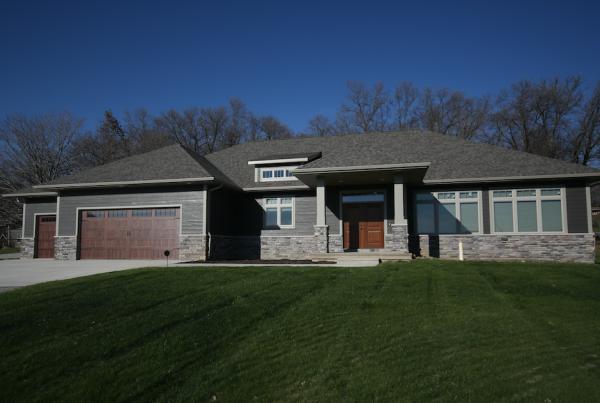 Exterior Home Stebral Construction Home Builder Iowa City, Coralville, Solon, North Liberty